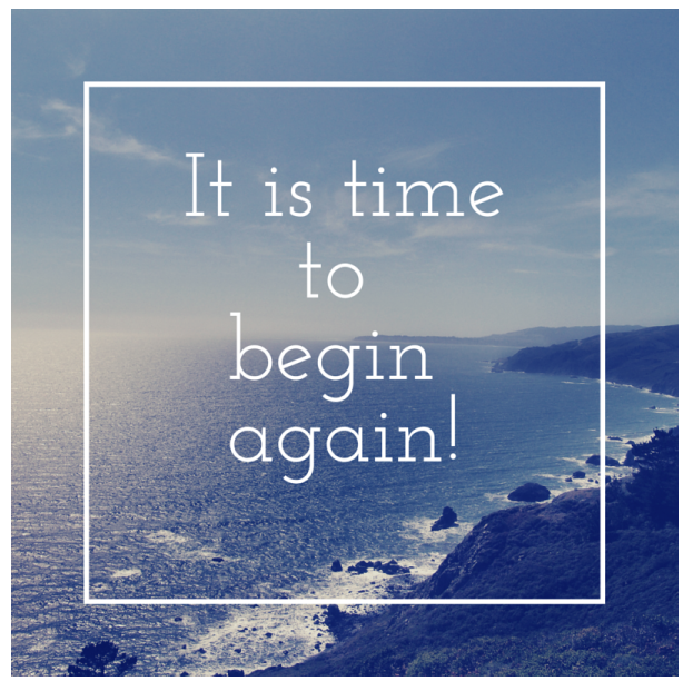 A Fresh Start! January = Time to ReBoot